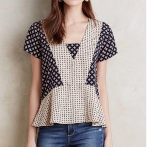 Anthropologie Patterned Blouse